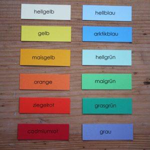 Umschlagfarben Papier